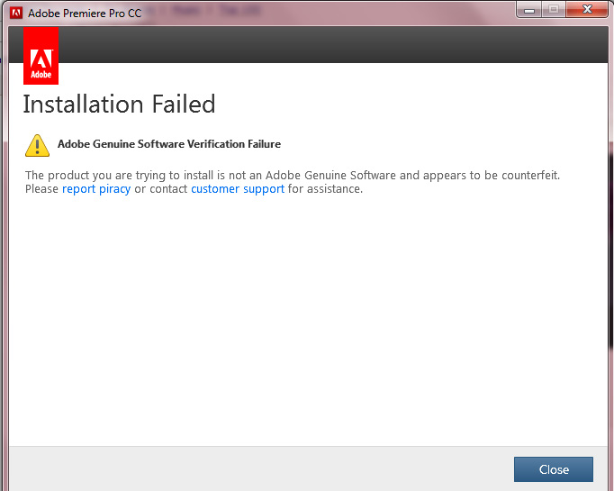 How to fix Adobe Genuine Software Verification Failure – Mizo Pa