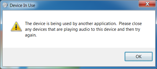How to Fix: Sound device being used by another application on